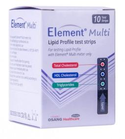Testovacie prúžky pre meranie lipidového profilu, 10ks